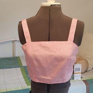 Gianni Bini Pink & White Crop Top